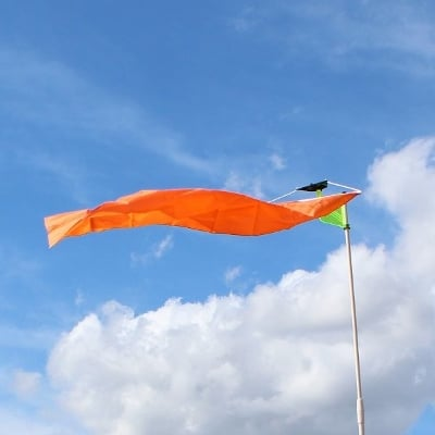 Windsock and Telescoping Pole